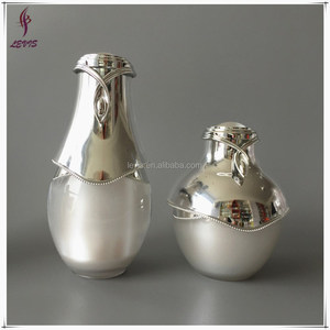 High end cosmetic airless plastic bottle and jar