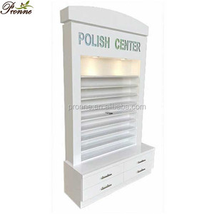 Fashionable style modern white display stands nail polish rack