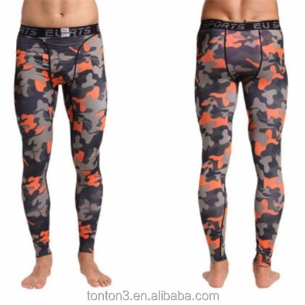 e165968b19 Custom Fitness Printed Sports Comfortable Yoga Pants Polyester Sublimation Camo  Men Running Tights