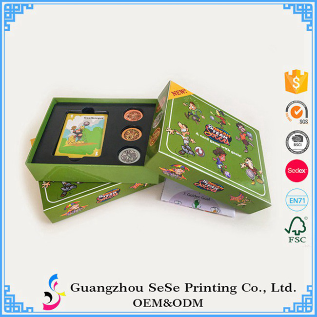 Custom playing cards with boxes blank cards game wholesale