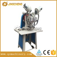 semi-automatic small eyelet two heads attaching machine