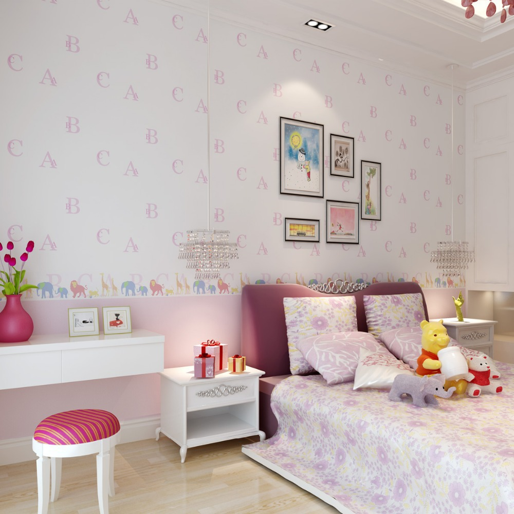 papier peint chambre fille. Black Bedroom Furniture Sets. Home Design Ideas