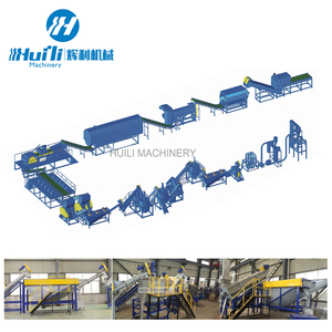 Cheap price PET plastic flake recycling line PET bottles crushing washing line Plastic washing