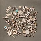 36 designs jewelry findings bracelet charm metal Rose Gold wire bangle bracelet charm pendants for necklace bracelets making