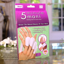 5 Minute Mani: Healing Nail &;; Cutile Mask Finger shaper, manicure, keep hands smooth and prevent hands from being rough