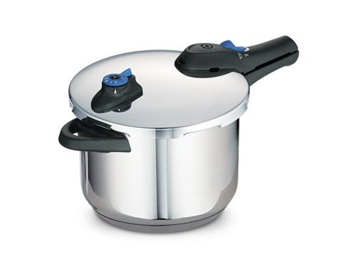 Tramontina 80130/501 Select 18/10 Stainless Steel Tri-Ply Base Pressure Cooker, 6.3-Quart, Stainless Steel