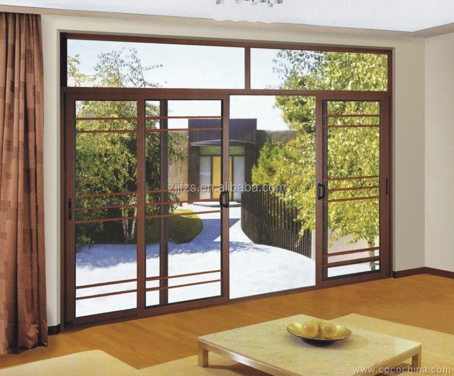 Exterior de aluminio puertas correderas hecho en china la for Puertas balcon de aluminio precios en rosario