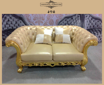 Furnitures Of House Chesterfield Sofa Gold Frame Luxury Villa