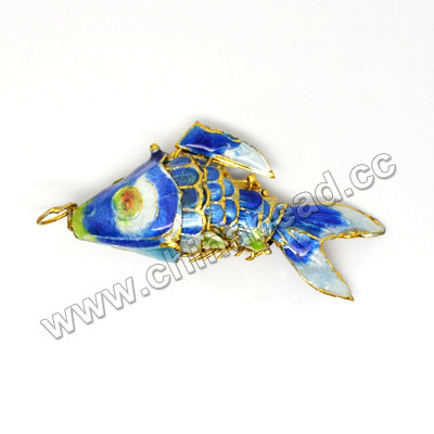 Cloisonne Fish Charm, mobile phone charms, gold fish pendant charms 2019