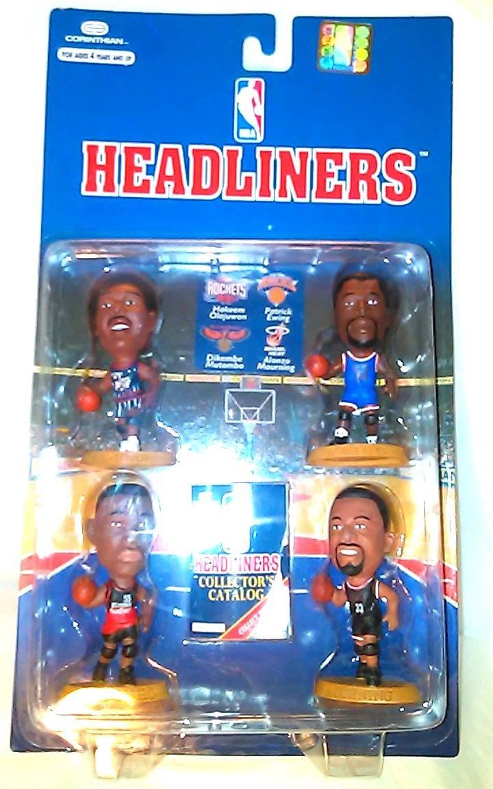 "NBA Headliners * Hakeem Olajuwon / Houston Rockets * Dikembe Mutombo / Atlanta Hawks * Alonzo Mourning / Miami Heat * Patrick Ewing / New York Knicks * Headliners ""CENTERS"" 1997 3-Inch Figures 4-Pack Set"