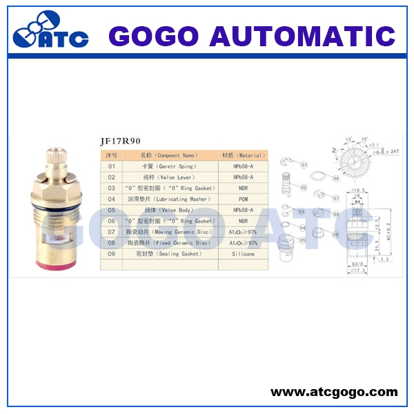 Low price high grade auto ac valve core