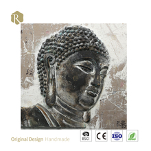 3D God of Buddha 100% handmade art wall decor shanghai relife oil painting decorative wall painting