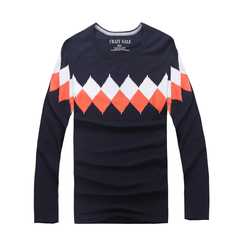 4a002ed3eb12 Get Quotations · 2015 spring long-sleeve T-shirt Famous Brand Top Designer  Mens Casual Long Sleeve