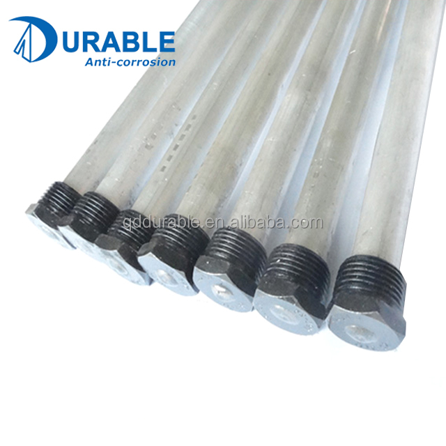 Replacement Anode rods are made of either aluminum or magnesium