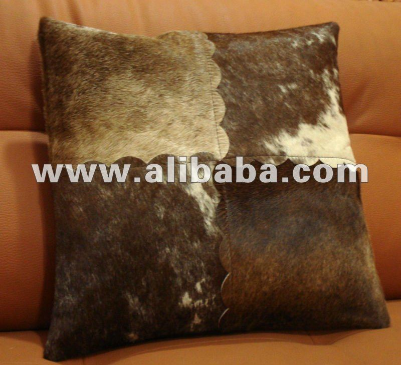 Leather Cowhide Pillow Cover Hair on Cushion Cover