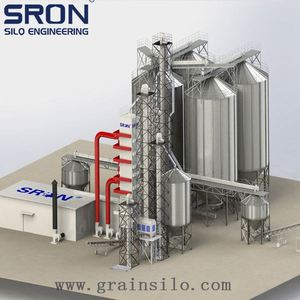 Steel chicken feed soybean yellow maize wheat bran grain silos with low silo cost