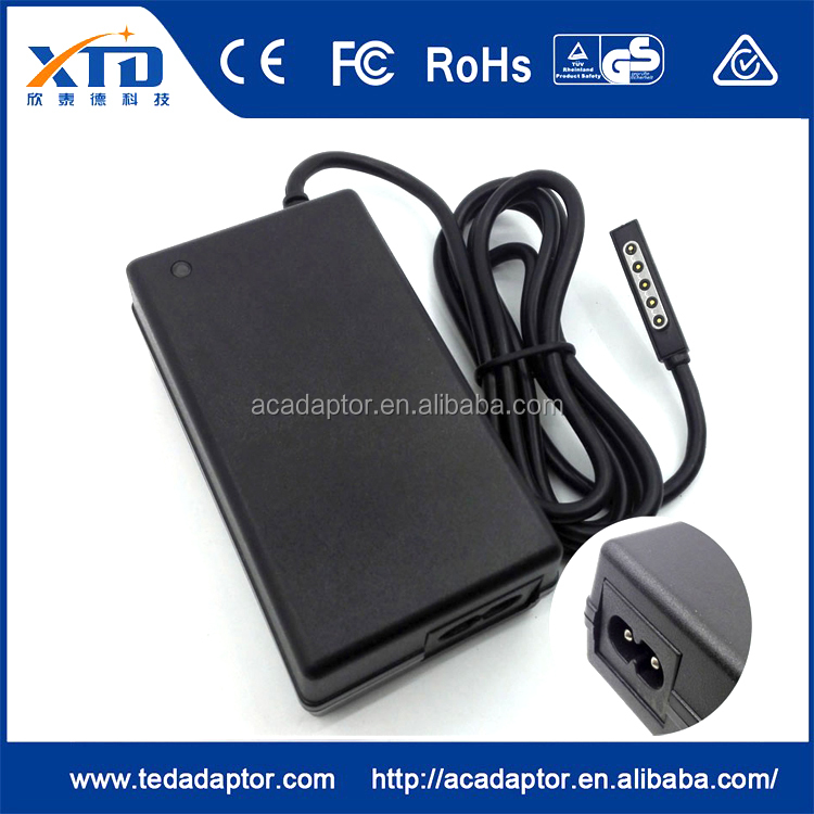 China supplier led light 12v 3.6a power adapter us plug firewire to hdmi adapter for Microsoft surface pro