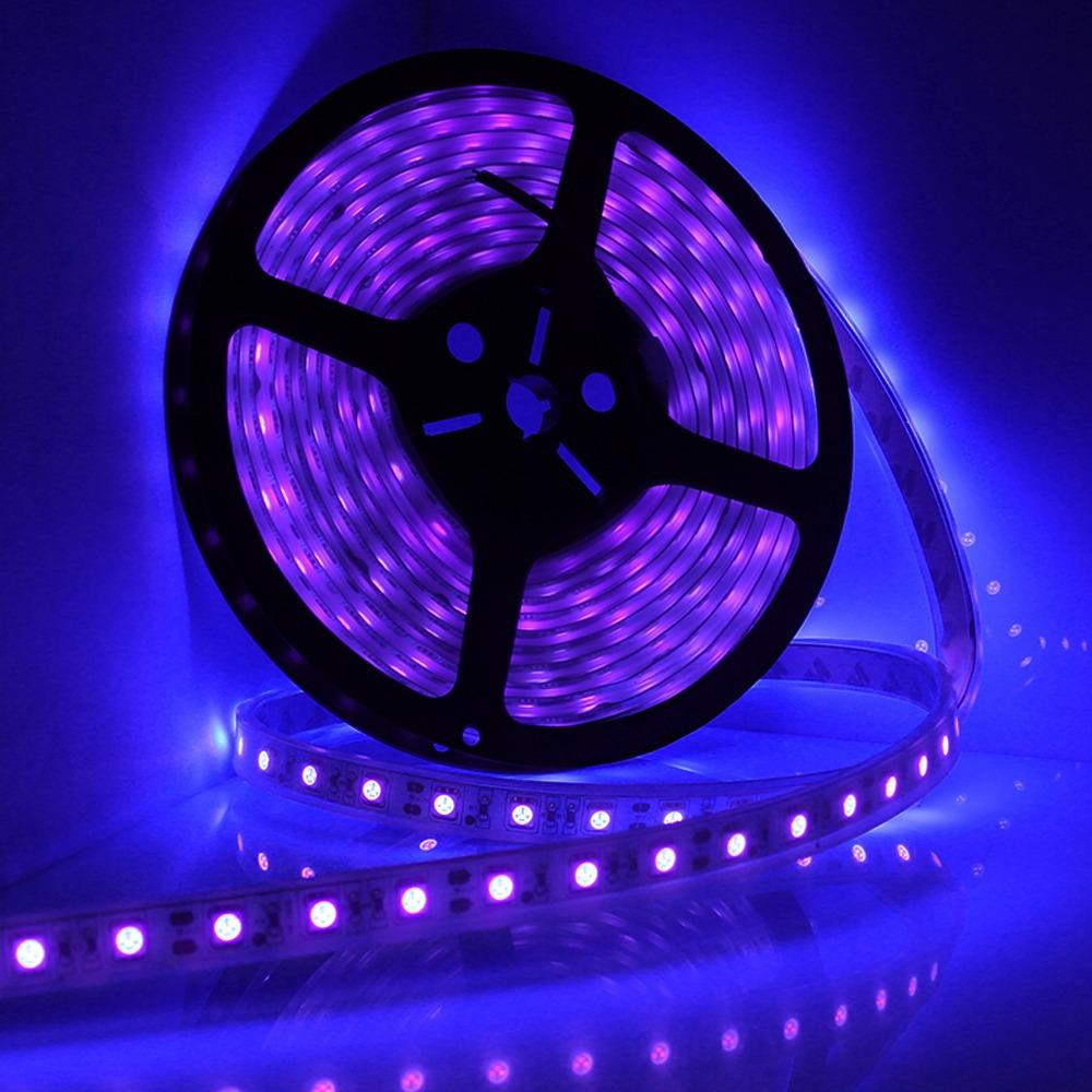 5m 16ft led waterproof ultraviolet purple black light strip 5050 dc 12v night fishing boat uv. Black Bedroom Furniture Sets. Home Design Ideas