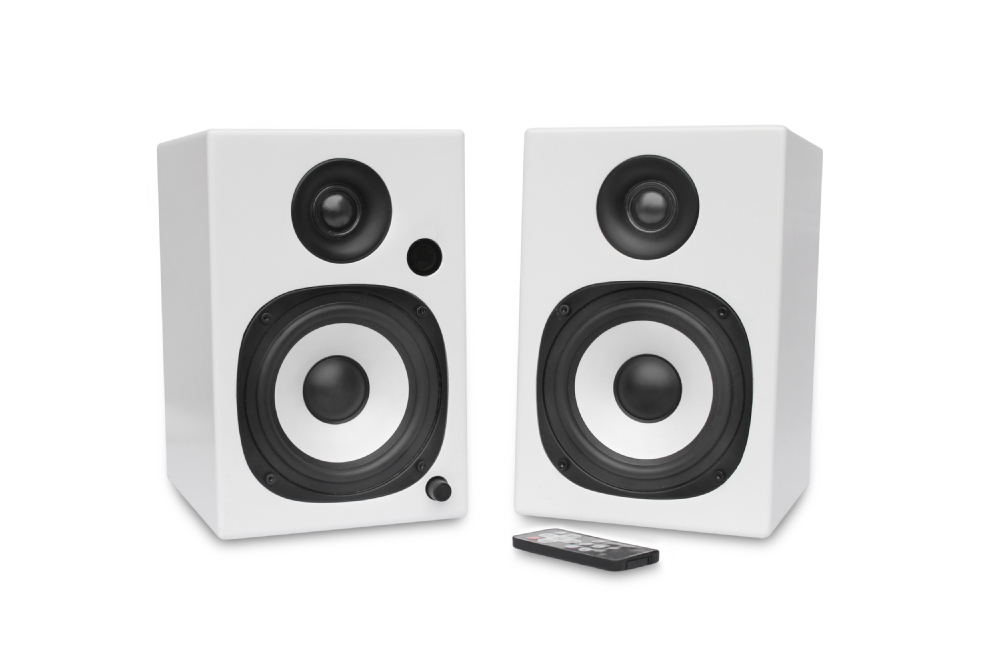 Powered Stereo Bluetooth 4.0 Bookshelf Speaker With 1inch Tweeter ...