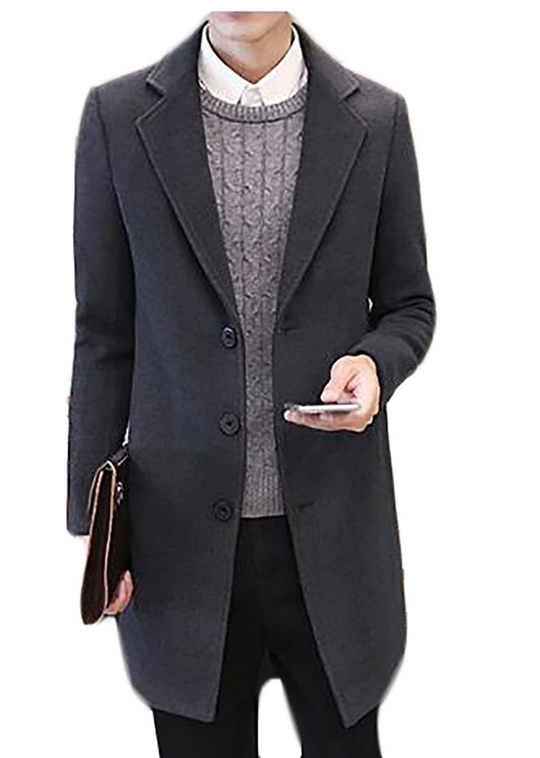 CBTLVSN Mens Slim Fit Solid Color Double Breasted Suits Jacket+Pant Two Pieces
