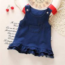 Платье для новорожденных BibiCola, модное платье из джинсовой ткани для свадьбы, лето 2020(Китай)
