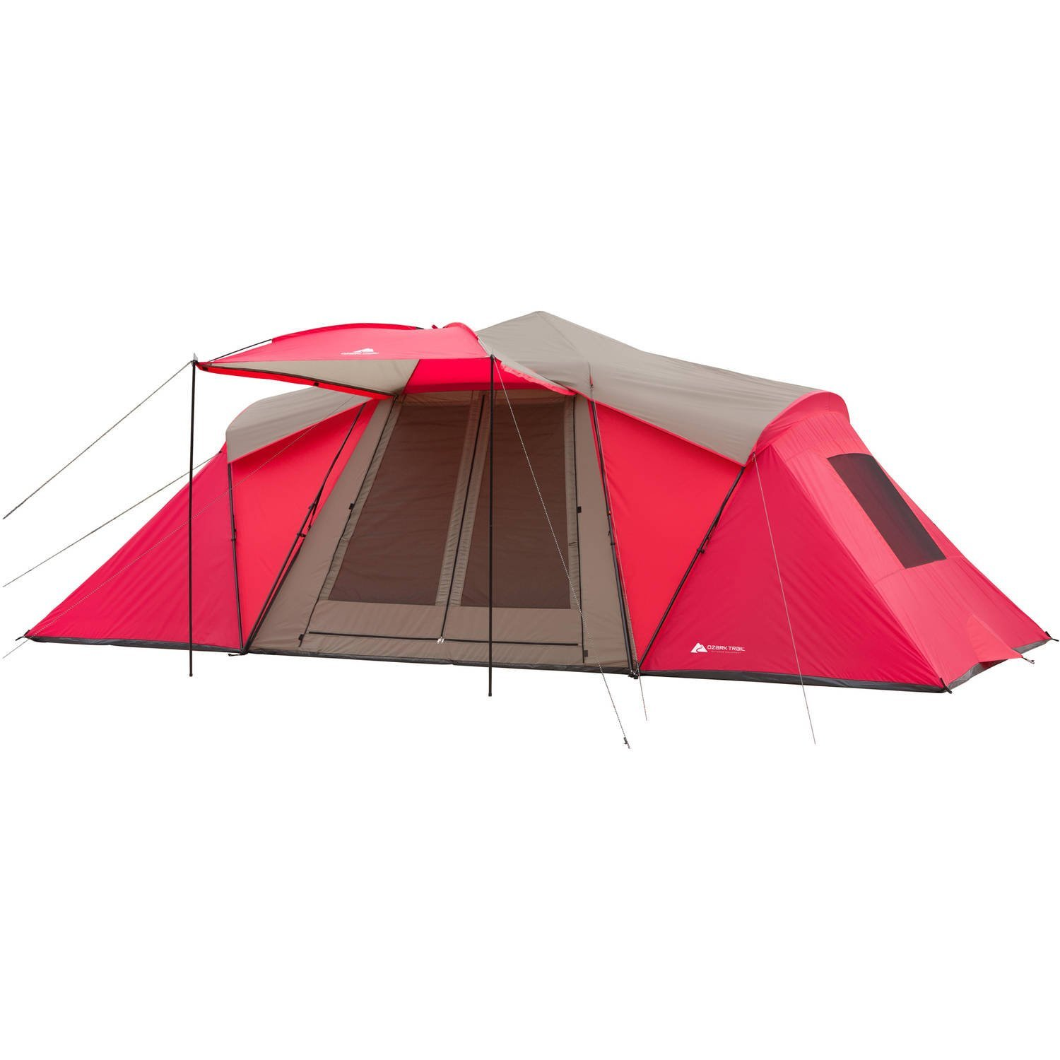 Get Quotations Ozark Trail 12 Person 3 Room Hybrid Instant Tent With Awning