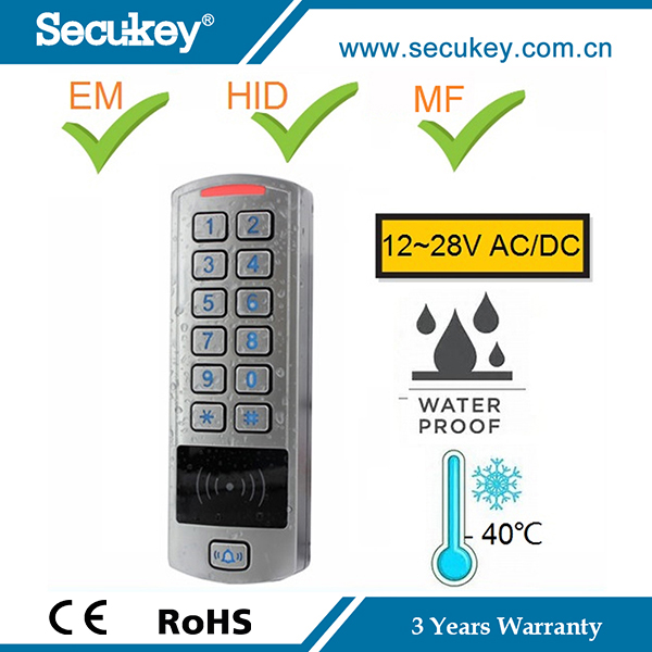 IP66 Metal Case Keypad Reader Door Access Control Gate Entry System