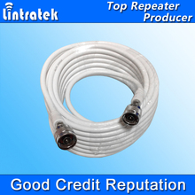 N male to N male 10 Meters Black 50ohm 50-5 Coaxial Cable for Connecting Cell Phone Repeater to Antenna