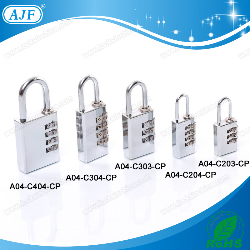 UK Market Best Selling China Supplier AJF New Product silver brass cabinet combination Padlock