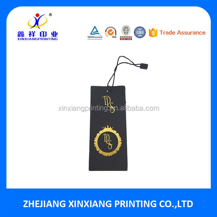 Custom Printed China Paper Tag Printing Clothing Hang Tags