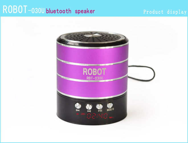 Robot-030u Hi-fi Stereo Portable Bluetooth Speaker,Fm Radio,Mini ...