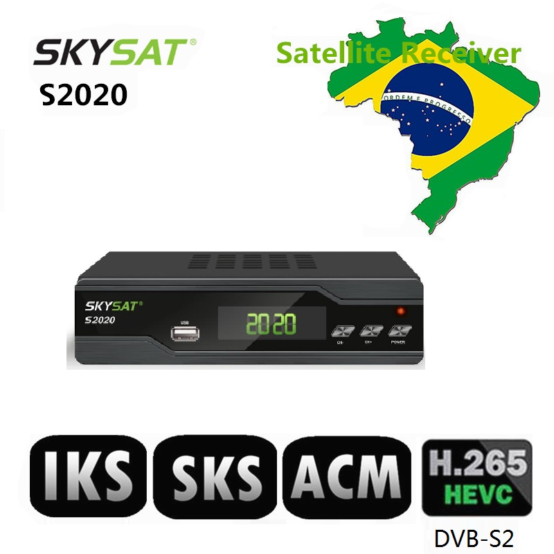 Skysat S2020 Twin Tuner Satellite Receiver Iks Sks Acm Iptv M3u H 265 Most  Stable Server Full Hd Channels For South America - Buy Chile Brazil,South