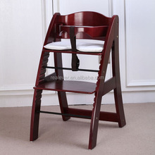 Safety Design Multi-Function Baby Dining Wood High Chair For Feeding