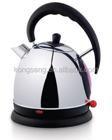 5 stars hotel stainless steel cordless dome electric kettle 1.8L