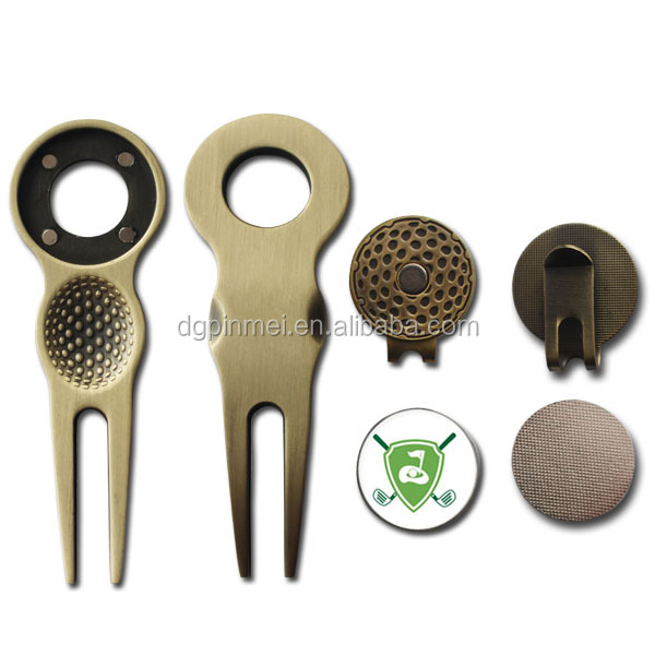Promotional gift for golf blank divot tool with golf ball marker