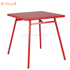 Square iron table