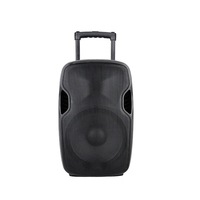 RQSONIC CMB15AMXQ-V2BP-BT 15 inch 120W battery powered plastic active trolley speaker sound system with 2 wireless microphone