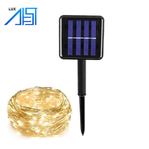China New Innovative Product 100 LED Copper Wire Waterproof Outdoor Lighting Led Solar String Light for Garden Decoration