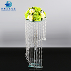 Elegant Crystal Table Top Centerpieces Tall Crystal Flower Stand For Wedding Decor