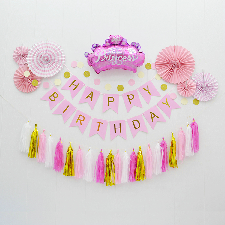 Party tissue garland girls party