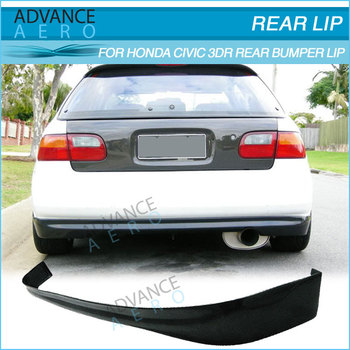 FOR 92 95 HONDA CIVIC 3DR HATCHBACK TR STYLE PU REAR BUMPER LIP SPOILER BODYKITS