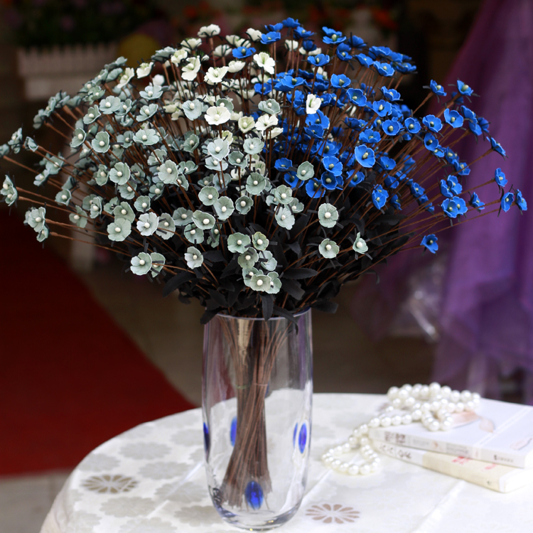 wholesale real touch pu fake gypsophila artificial purple baby 39 s breath flowers wedding bouquet. Black Bedroom Furniture Sets. Home Design Ideas