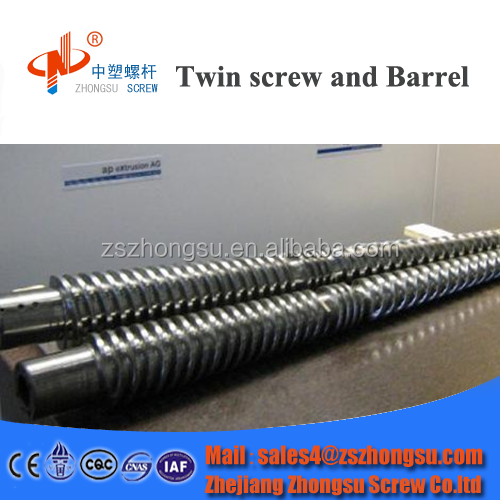 Kabra twin screw and barrel for pvc pipe/parallel twin screw barrel for PVC HDPE tube/plastic & rubber machinery parts