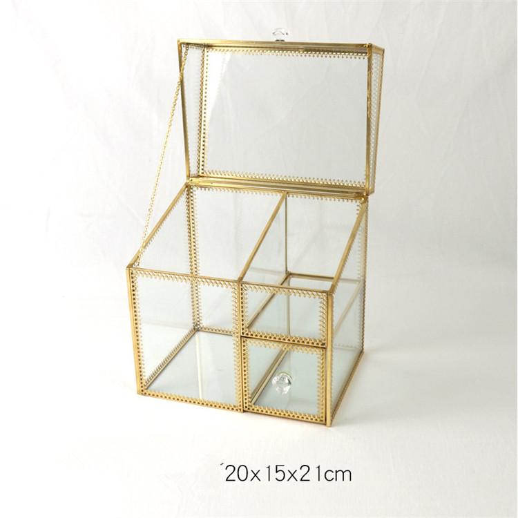 Christmas decoration Makeup Organizer Drawer Container Storage Holder Box Gold lipstick  Organizer storage box