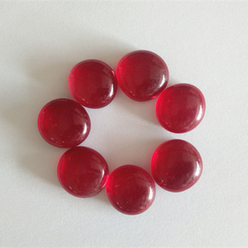 Artificial stone material red coloured glass pebbles
