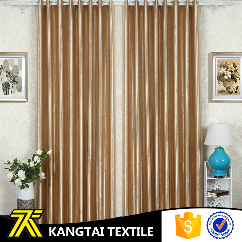 Gold Color Blackout Embossed Curtain Design Window For