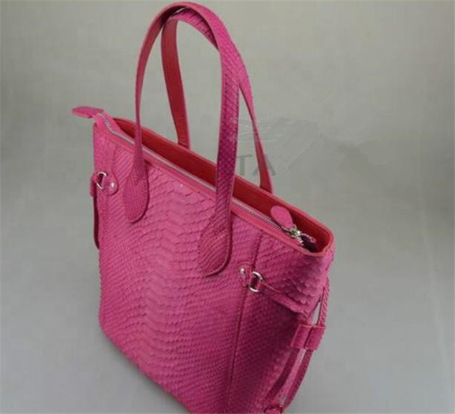 Real python snake skin lady tote bag luxury python leather handbag