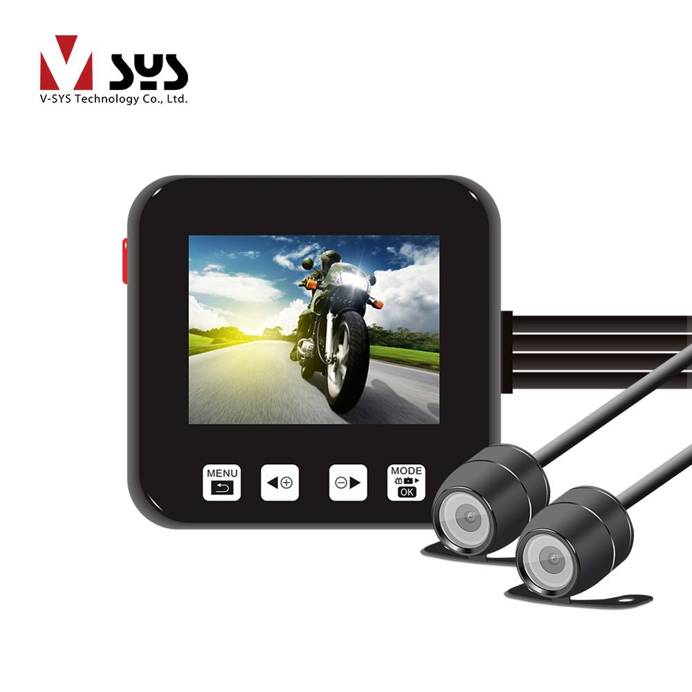 2017 Vsys official Most Popular C6 full hd 720p mini dual lens motorcycle sport camera DVR with latest design