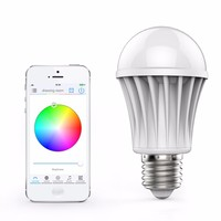 Led bulb light lamp 7W supoort Wifi Wireless remote control RGB White Dimmmable E27 base for IOS Android phone