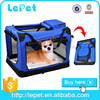 Wholesale custom logo foldable portable travel dog carrier soft crate for pets